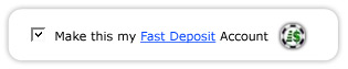 Setting up a payment method to use Fast Deposit